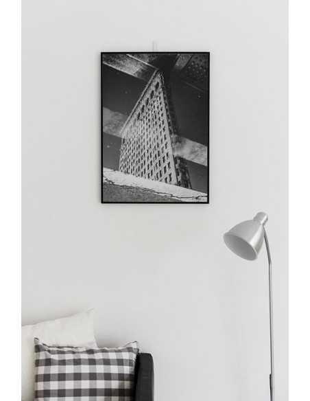 Flatiron Building plakat nowego jorku z budynkiem.