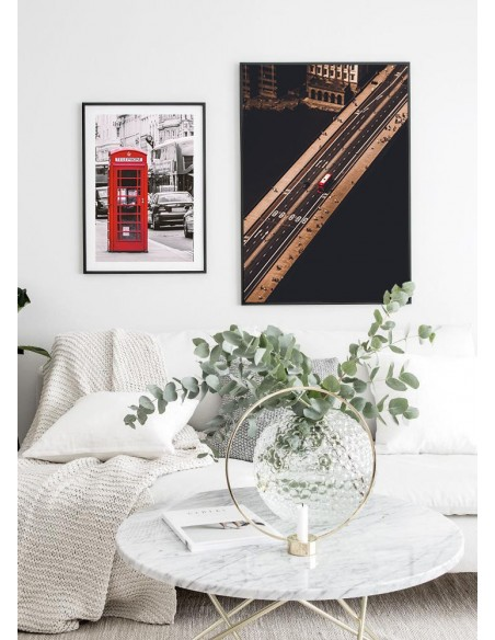 Poster, English red phone booth