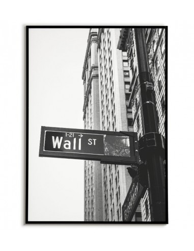 Black and white poster of street street in New York