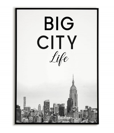 New York poster with the inscription Big City Life in the Scandinavian style
