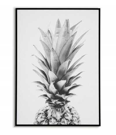 Ananas plakat czarno biały...