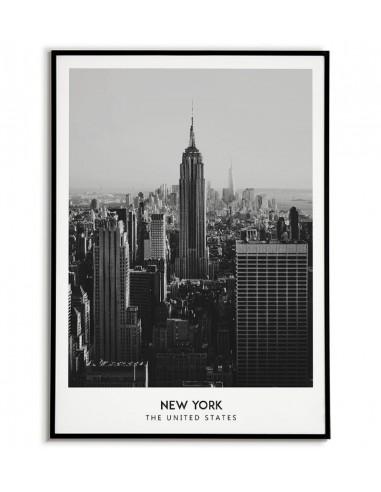 Poster with new york, united states. Black and white poster with a photo of New York
