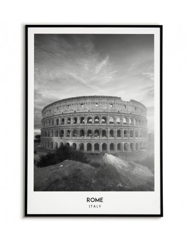 Rome poster in Italy photo Colosseum in black and white