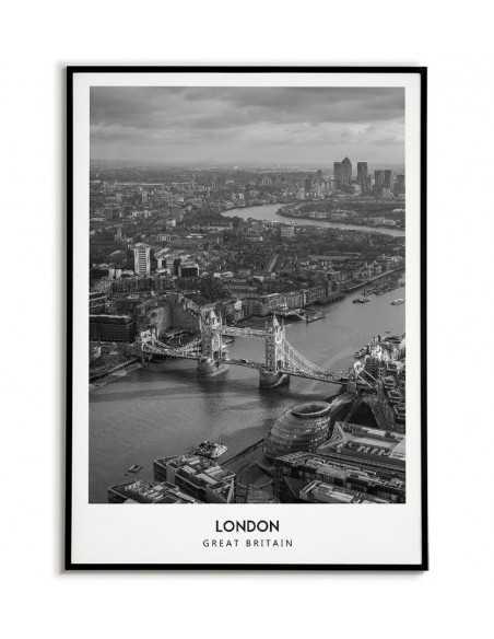 plakat z londynem wielka brytania idealny temat na plakat.