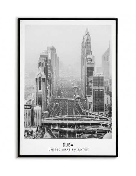 Dubaj plakat ze zdjęciem w stylu skandynawskim, emiraty arabskie