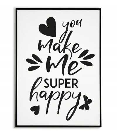 Plakat, obraz dla zakochanych idealny jako prezent na walentynki z napisem