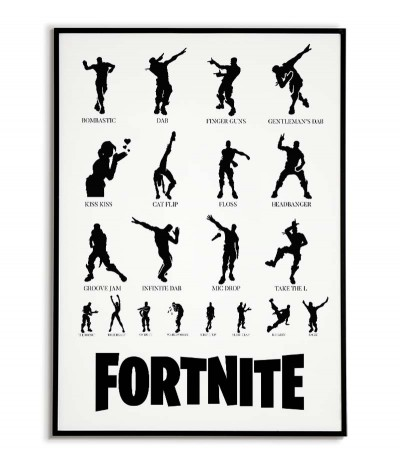 poster from fortnite game for real player to room dance list with names