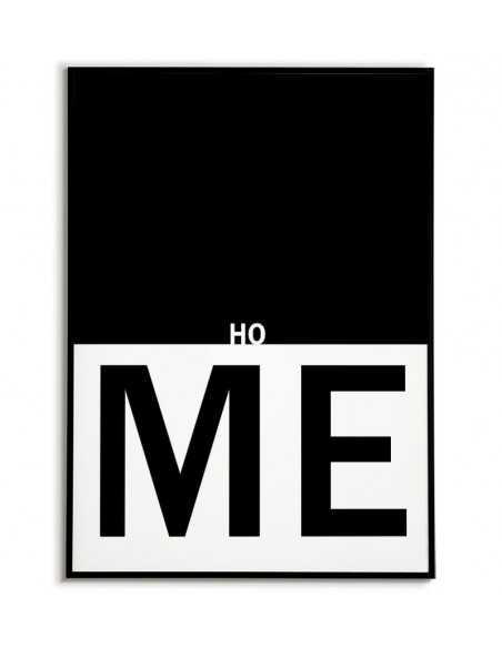 Plakat do domu z napisem - Home - grafika do ramki