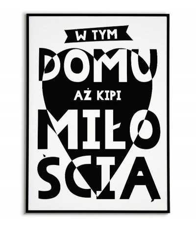 Plakat motywacyjny czarno biały z napisem