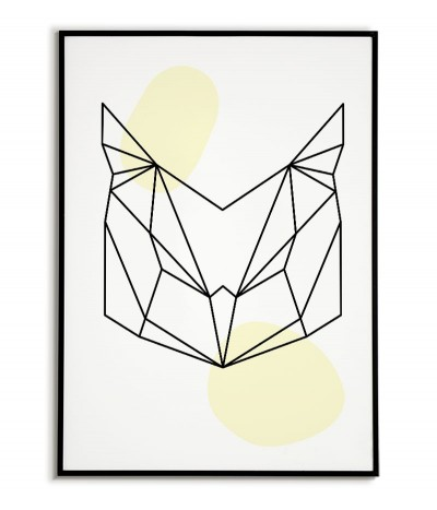 Geometric animals poster...