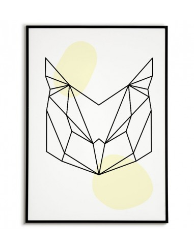 Geometric animals poster with owl in...