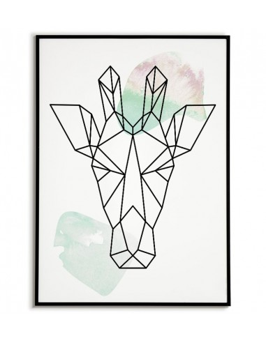 Geometric animals poster with...
