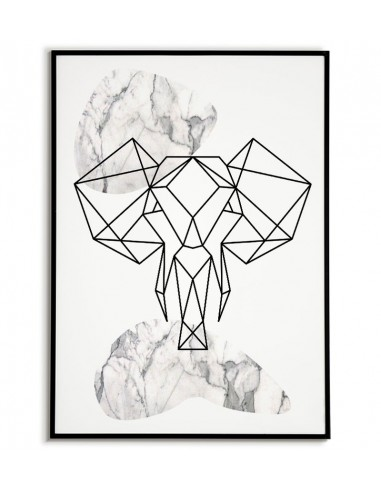 Geometric animals poster with an...