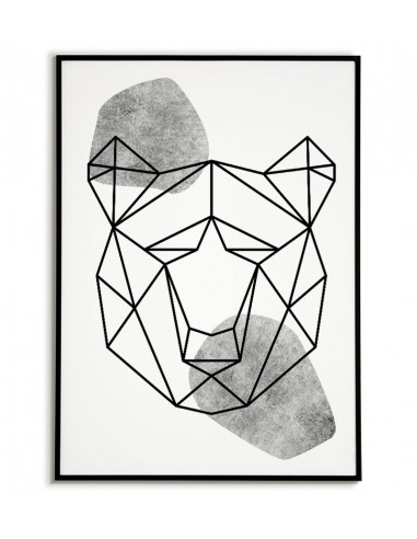 Geometric animals poster with a bear...