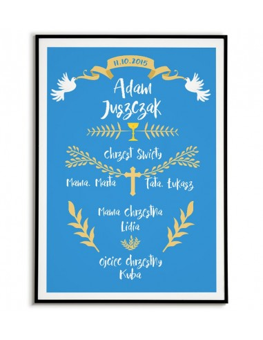 Poster baptism souvenir - with...