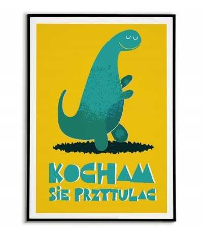 plakat dla dziecka, obrazek dla dziecka, grafika dla dziecka, dinozaur