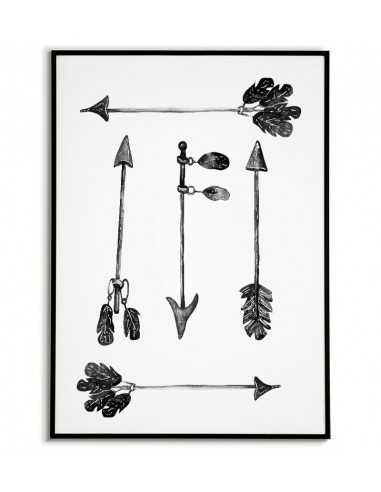 Obrazek Na ścianę Dla Dziecka Czarno Białe Strzałki Plakat Do Ramki