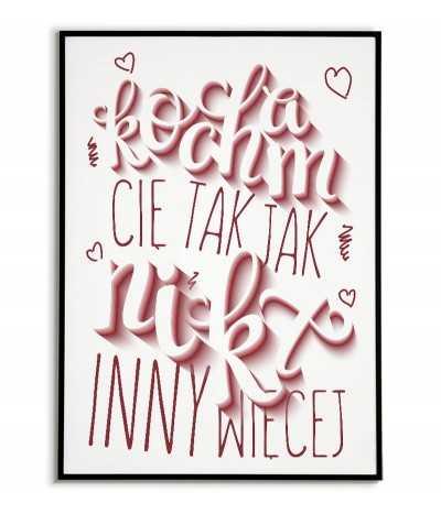 plakat miłosny, plakat na ścinę, plakat do domu, wydruk do ramki, prezent walentynkowy