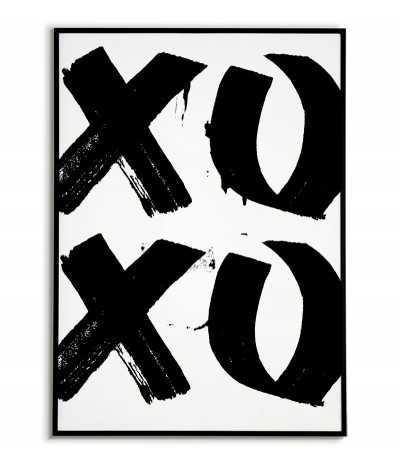 plakat xoxo, plakat motywacyjny, xoxo, plakat na ścianę, plakat do domu,