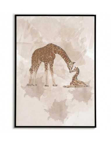 plakat dla dziecka, do pokoju dziecięcego, plakat z żyrafą