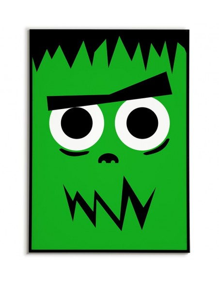 Frankenstein, obrazek dla dziecka, plakat dla dziecka, postać filmowa,