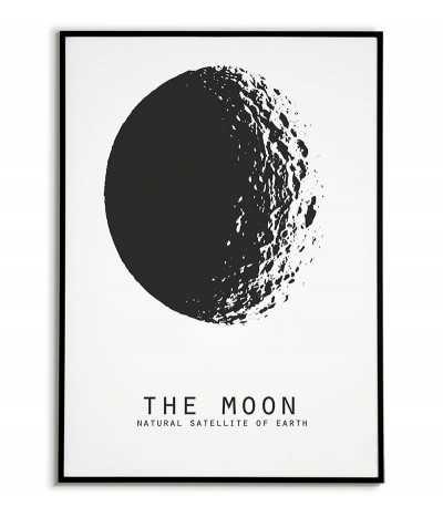 plakat z księżycem, księżyc, plakat z kosmosem, plakaty do domu, obrazek, planeta