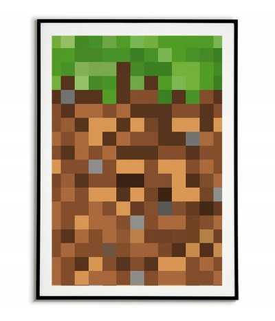 plakat dla dziecka do pokoju, plakat z minecrafta, minecraft, plakat z gry