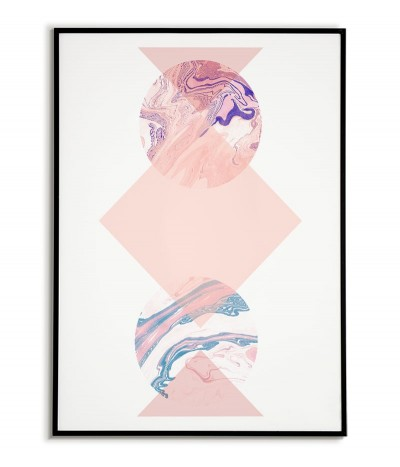 geometric poster in pastel colors modern collage and triangles