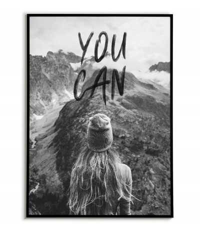 Plakat motywacyjny - You Can