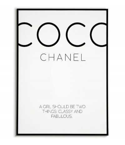 Plakat motywacyjny Coco Chanel z cytatem, plakat fashion z cytatem coco