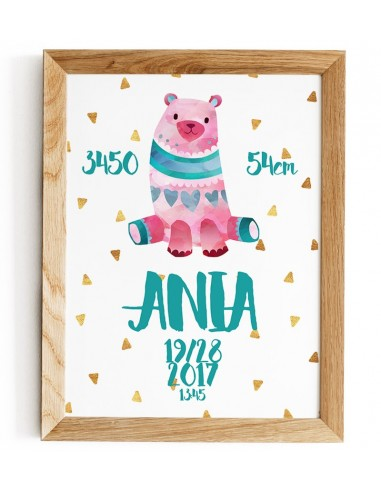 Pink bear - graphics for the child to...