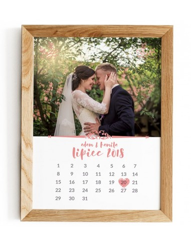 Calendar card with photo - souvenir...