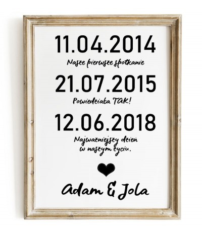 Wedding poster with...