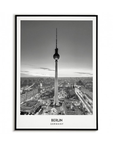 BERLIN - A black and white poster...