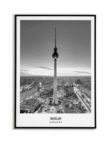 Plakat berlin. Plakat ze zdjęciem berlina, czarno biały. Plakat w stylu skandynawskim