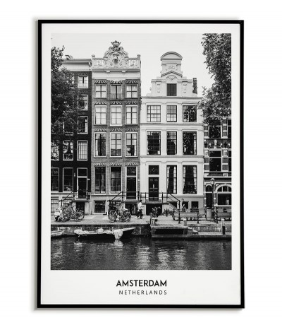 AMSTERDAM - A black and...