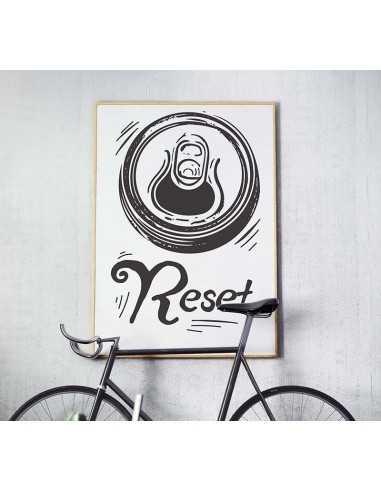 Plakat Na ścianę Z Piwem I Napisem Reset Obrazek Do Ramki