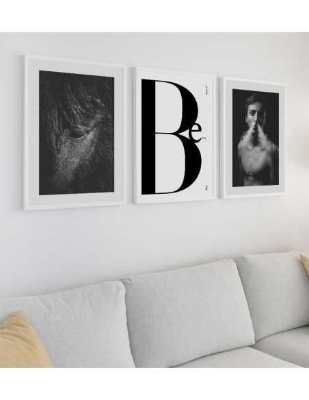 Plakat fotograficzny z koniem, portret konia, czarno białe zdjęcie konia