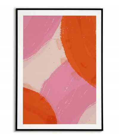 Plakat skandynawski abstrakcja farbą wzór z kręgami