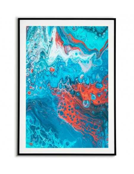 plakat skandynawski - niebieska abstrakcja, grafika na ścianę
