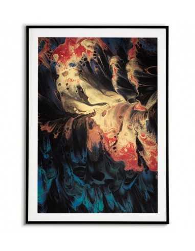 plakat w stylu skandynawskim, ciemna abstrakcja, grafika na ścianę