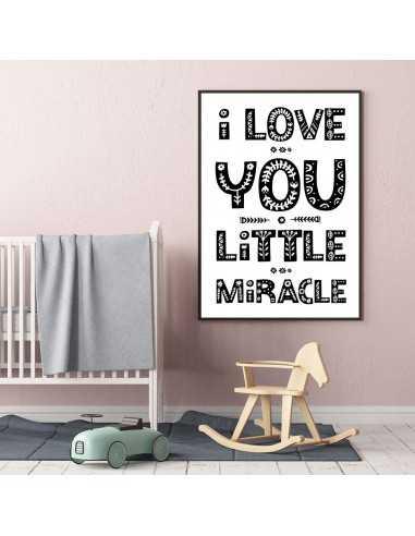 Plakat Z Napisami I Love You Little Grafika Na ścianę Dla Dziecka