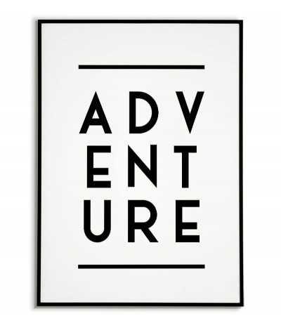 Plakat, obraz - ADVENTURE - Grafika na ścianę