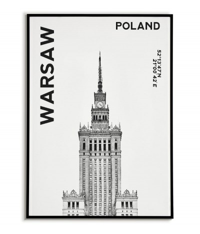 Poster Warsaw - Palace of...