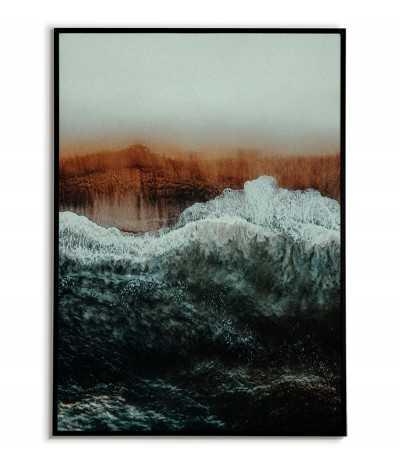 Plakat Fale Oceanu na plaży - Grafika na ścianę