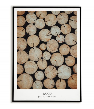 Photo poster - Wood -...