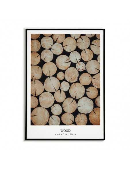 plakat fotograficzny z drewnem. Grafika na ścianę wykonana w stylu skandynawskim
