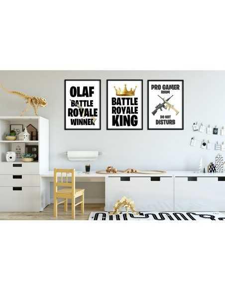 plakat personalizowany dla gracza, fortnite battle royale, apex, z imieniem