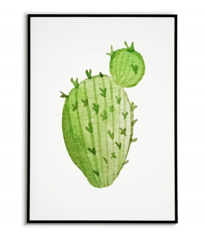 Poster Cactus painted on a...