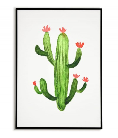 Cactus with red flowers...